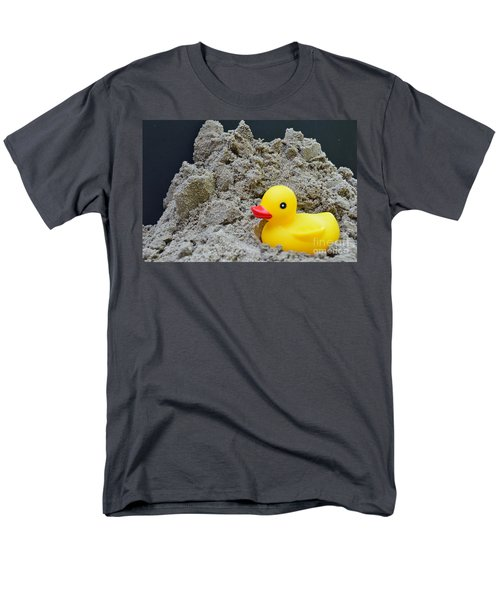 Sand Pile And Ducky Men's T-Shirt  (Regular Fit) by Randy J Heath