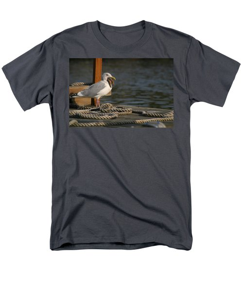 Men's T-Shirt  (Regular Fit) featuring the photograph Seagull Swallows Starfish by Kym Backland