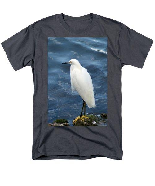 Snowy Egret 1 Men's T-Shirt  (Regular Fit) by Joe Faherty