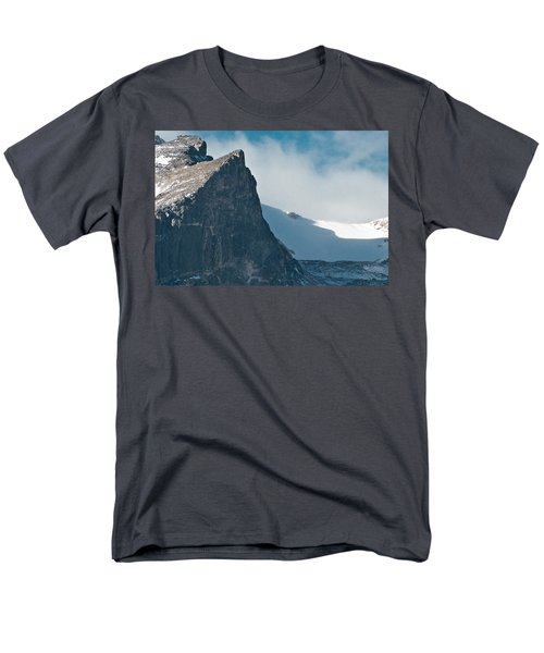 Men's T-Shirt  (Regular Fit) featuring the photograph Snowy Flatirons by Colleen Coccia
