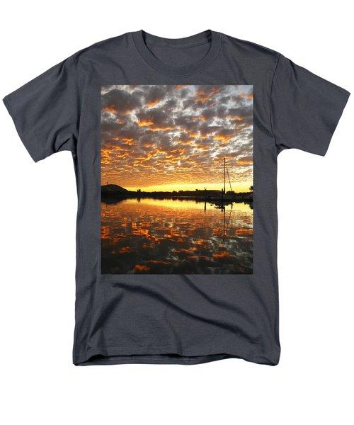 Men's T-Shirt  (Regular Fit) featuring the digital art Spectacular Mazatlan Sunset by Anne Mott