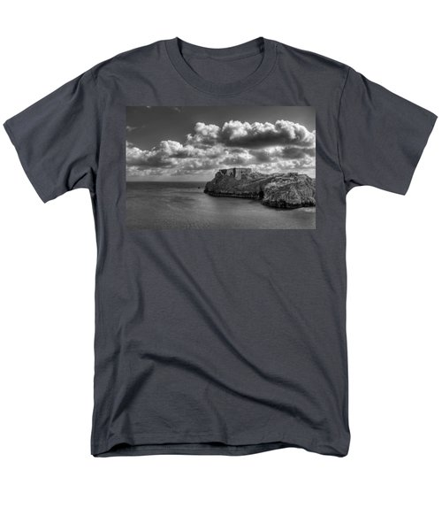 Men's T-Shirt  (Regular Fit) featuring the photograph St Catherines Rock Tenby by Steve Purnell