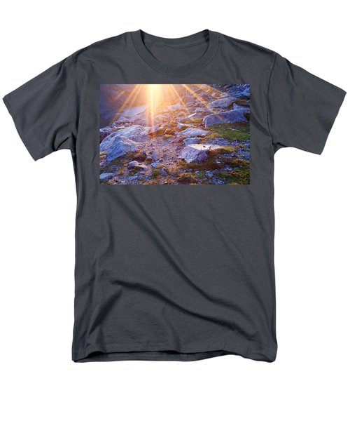Men's T-Shirt  (Regular Fit) featuring the photograph Sunburst Over Abyss Lake by Jim Garrison