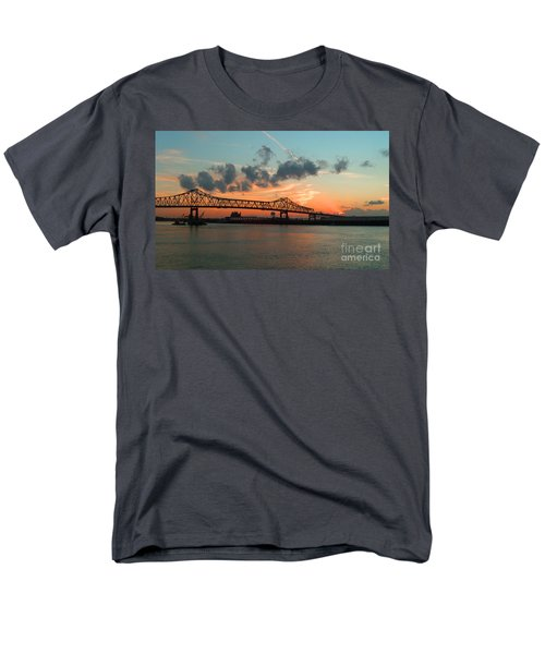 Sunset On The Mississippi  Men's T-Shirt  (Regular Fit) by Lydia Holly