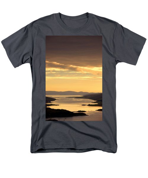 Sunset Over Water, Argyll And Bute Men's T-Shirt  (Regular Fit) by John Short