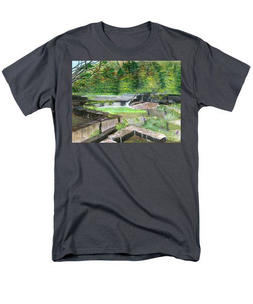 Men's T-Shirt  (Regular Fit) featuring the painting Taughannock Vista Ithaca New York by Melly Terpening