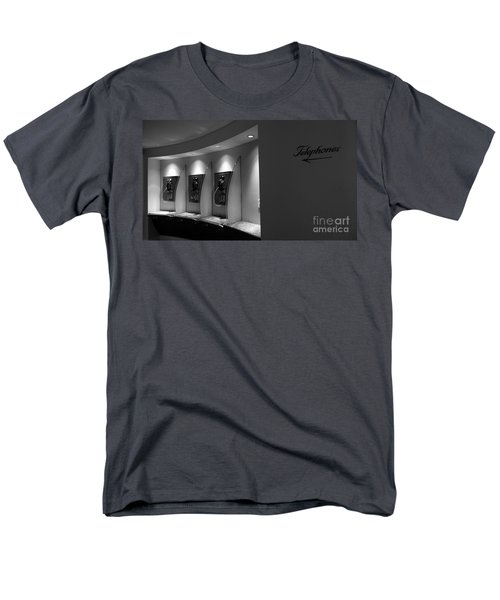 Men's T-Shirt  (Regular Fit) featuring the photograph Telephones On Wall by Nina Prommer