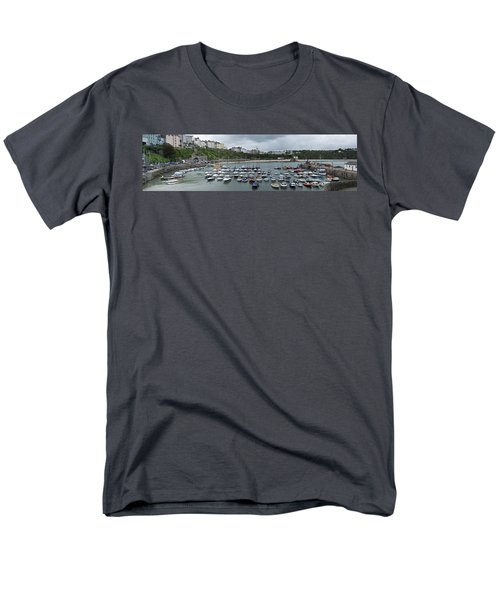 Men's T-Shirt  (Regular Fit) featuring the photograph Tenby Harbour Panorama by Steve Purnell
