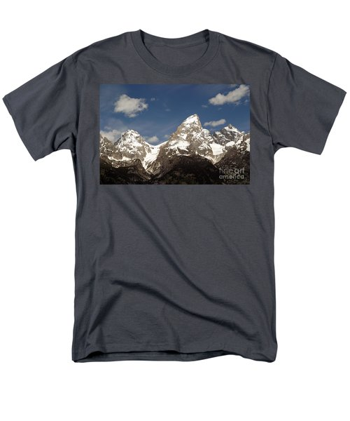 Men's T-Shirt  (Regular Fit) featuring the photograph Teton Tips by Living Color Photography Lorraine Lynch