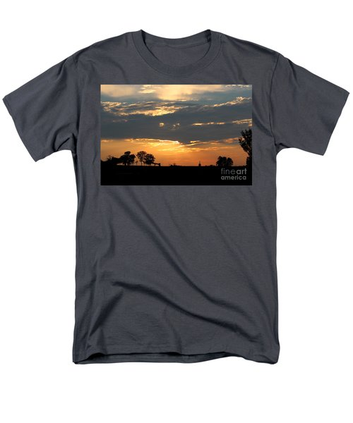 Men's T-Shirt  (Regular Fit) featuring the photograph Texas Sized Sunset by Kathy  White