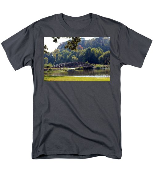 Men's T-Shirt  (Regular Fit) featuring the photograph The Bridge by Kathy  White