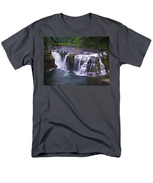 Men's T-Shirt  (Regular Fit) featuring the photograph The Falls by David Gleeson