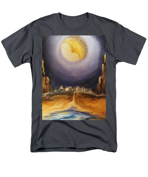 the Moon Men's T-Shirt  (Regular Fit) by Karen  Ferrand Carroll