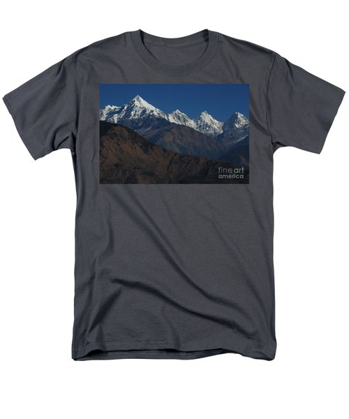Men's T-Shirt  (Regular Fit) featuring the photograph The Panchchuli Range by Fotosas Photography