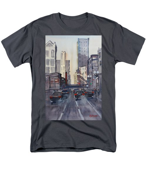 Theatre District - Chicago Men's T-Shirt  (Regular Fit) by Ryan Radke