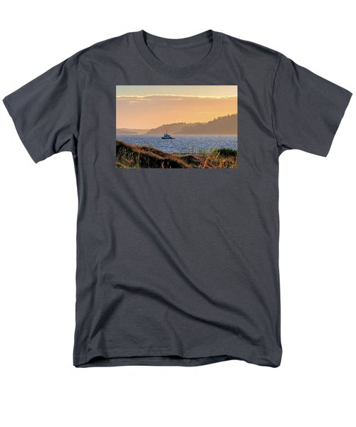 Men's T-Shirt  (Regular Fit) featuring the photograph Twilight Tug -chambers Bay Golf Course by Chris Anderson