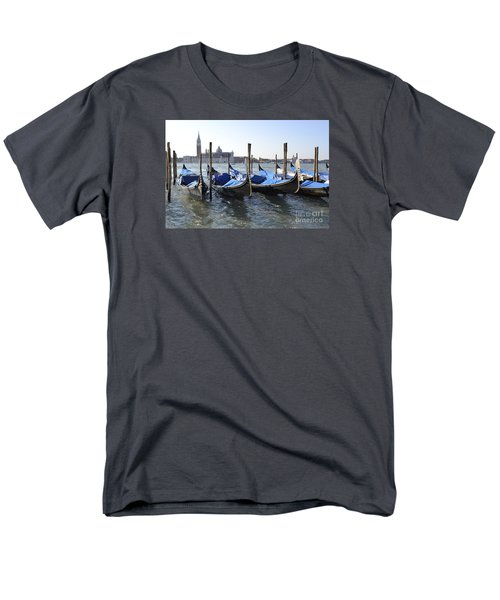 Men's T-Shirt  (Regular Fit) featuring the photograph Venice Gondolas by Rebecca Margraf