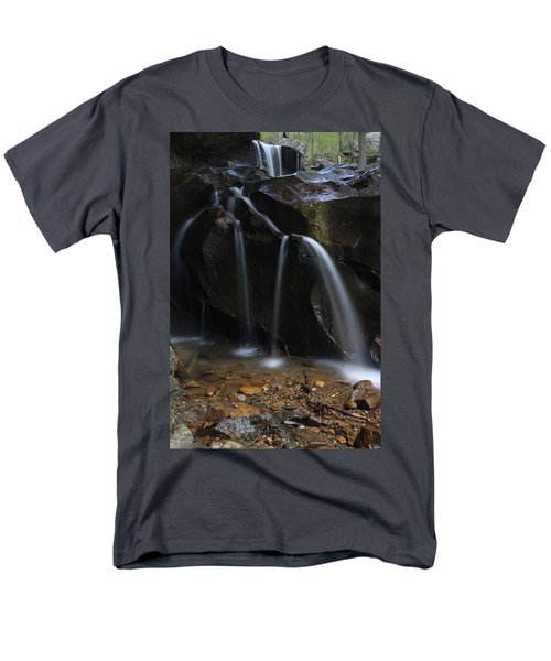 Men's T-Shirt  (Regular Fit) featuring the photograph Waterfall On Emory Gap Branch by Daniel Reed
