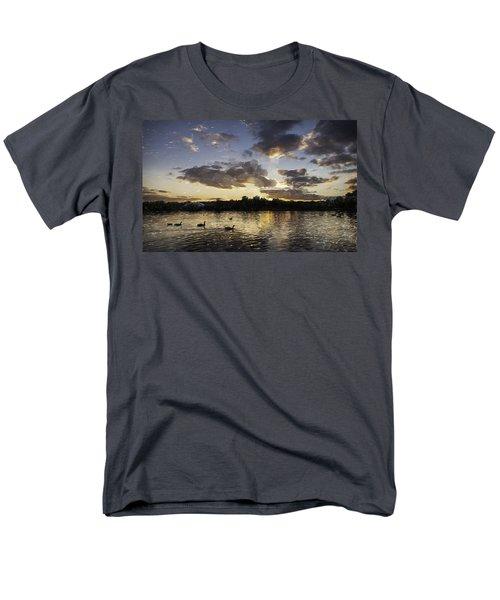 Men's T-Shirt  (Regular Fit) featuring the digital art Wimbledon Sunset by Matt Malloy