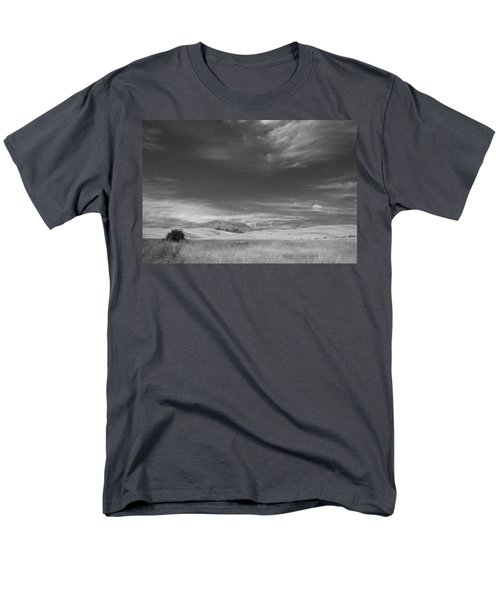 Men's T-Shirt  (Regular Fit) featuring the photograph Windmills In The Distant Hills by Kathleen Grace