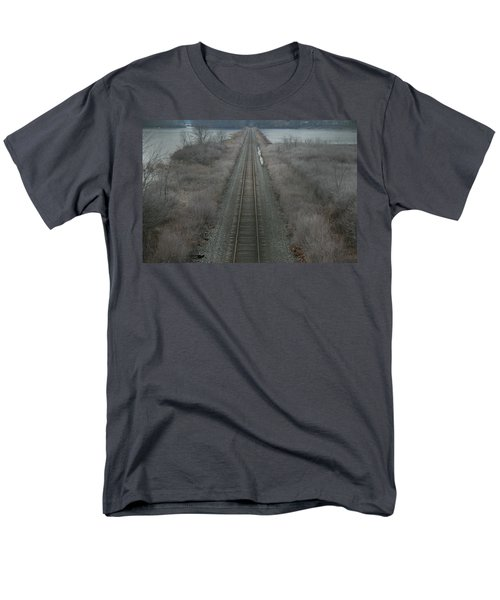 Men's T-Shirt  (Regular Fit) featuring the photograph Winter Tracks  by Neal Eslinger