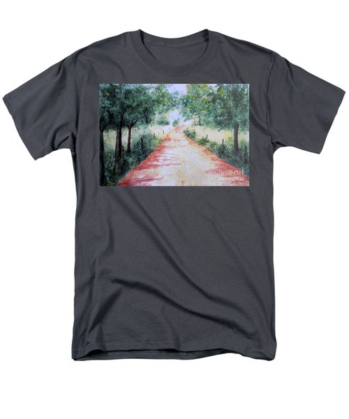 A Country Road Men's T-Shirt  (Regular Fit) by Vicki  Housel