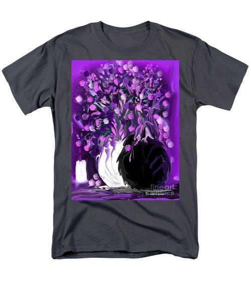 Flower Art Love Purple Flowers  Love Pink Flowers Men's T-Shirt  (Regular Fit) by Sherri's Of Palm Springs