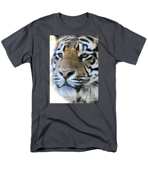 Tiger Portrait  Men's T-Shirt  (Regular Fit) by Mindy Bench