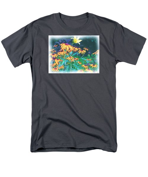 Men's T-Shirt  (Regular Fit) featuring the painting A Lily In The Field by Patricia Griffin Brett
