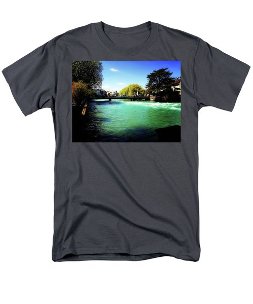 Men's T-Shirt  (Regular Fit) featuring the photograph Aare River by Mimulux patricia no No