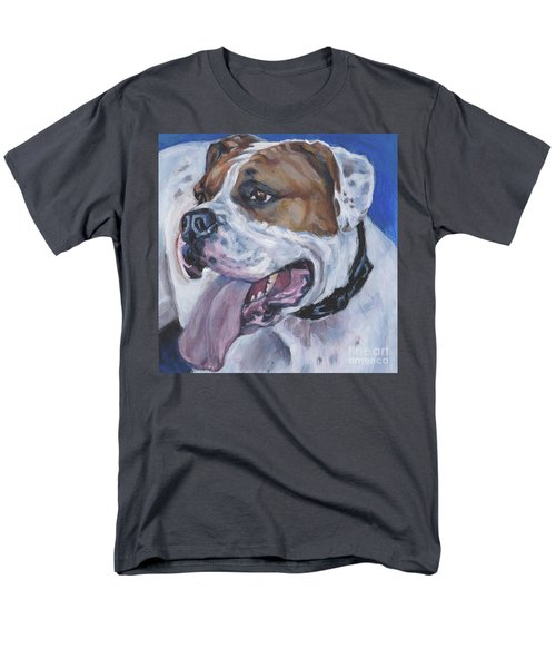 Men's T-Shirt  (Regular Fit) featuring the painting American Bulldog by Lee Ann Shepard