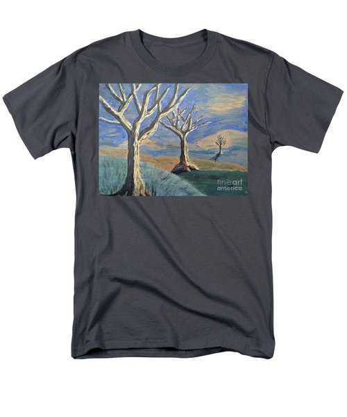 Men's T-Shirt  (Regular Fit) featuring the painting Bare Trees by Judy Via-Wolff