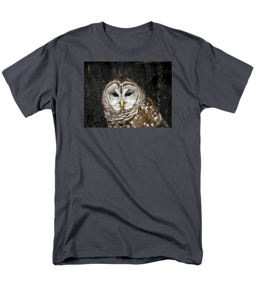 Men's T-Shirt  (Regular Fit) featuring the photograph Barred Owl by Tyson and Kathy Smith