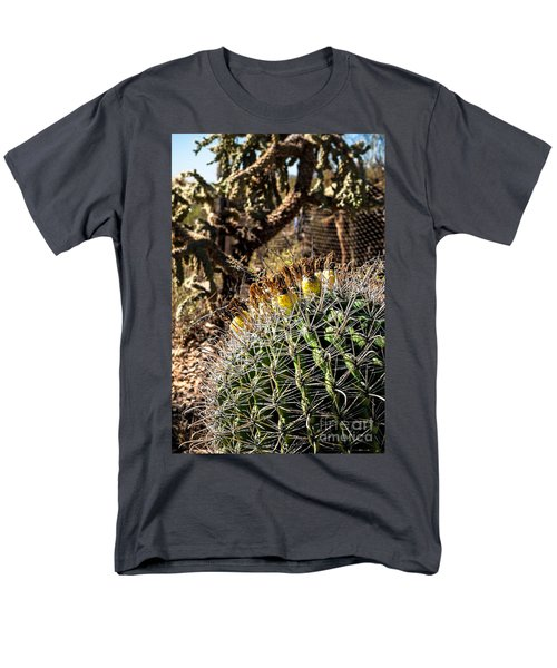 Men's T-Shirt  (Regular Fit) featuring the photograph Barrel Cactus by Lawrence Burry