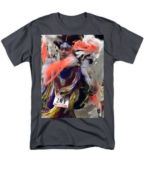 Behind The Feathers Men's T-Shirt  (Regular Fit) by Audrey Robillard