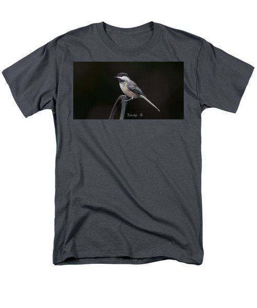 Black-capped Chickadee Men's T-Shirt  (Regular Fit) by Diane Giurco