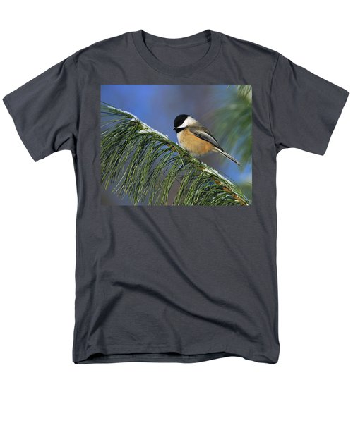 Black-capped Chickadee Men's T-Shirt  (Regular Fit) by Tony Beck