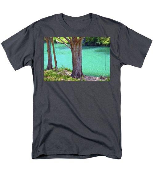 Blanco River Texas Men's T-Shirt  (Regular Fit) by Ray Shrewsberry