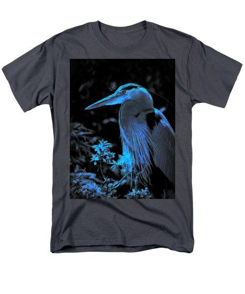 Men's T-Shirt  (Regular Fit) featuring the photograph Blue Heron by Lori Seaman