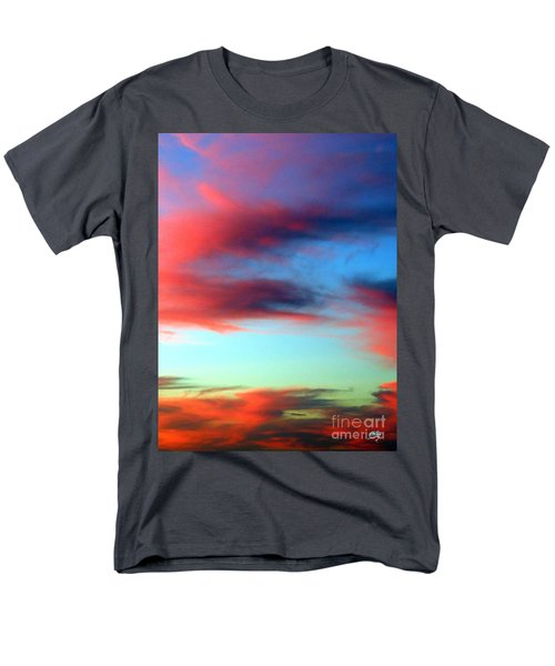 Men's T-Shirt  (Regular Fit) featuring the photograph Blushed Sky by Linda Hollis