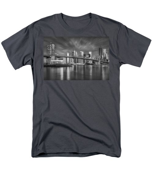 Brooklyn Bridge From Dumbo Men's T-Shirt  (Regular Fit) by Susan Candelario