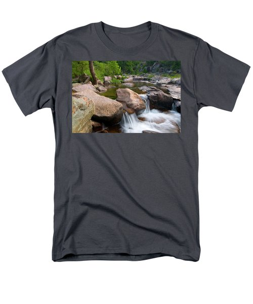 Men's T-Shirt  (Regular Fit) featuring the photograph Castor River Shut-ins by Steve Stuller