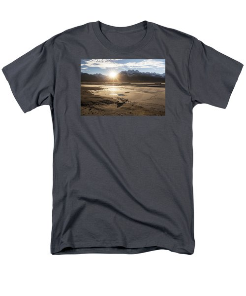 Chilkat River Sunset Men's T-Shirt  (Regular Fit) by Michele Cornelius