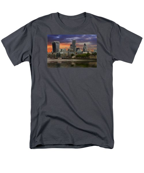 City Of London Men's T-Shirt  (Regular Fit) by David French
