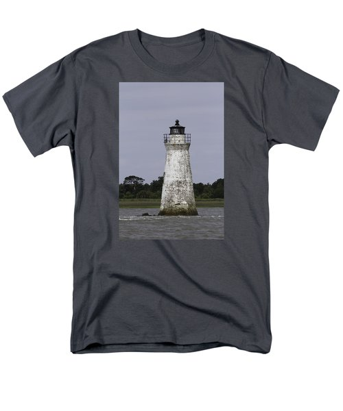 Cockspur Lighthouse Men's T-Shirt  (Regular Fit) by Elizabeth Eldridge