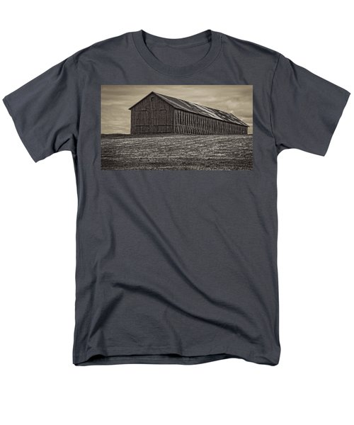 Connecticut Tobacco Barn Men's T-Shirt  (Regular Fit) by Phil Cardamone