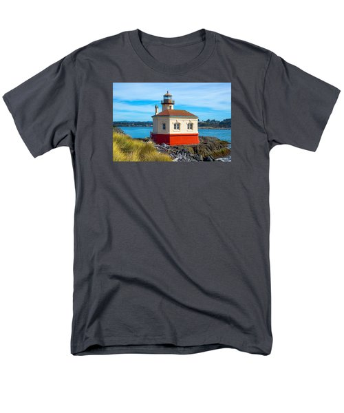 Men's T-Shirt  (Regular Fit) featuring the tapestry - textile Coquille Lighthouse by Dennis Bucklin
