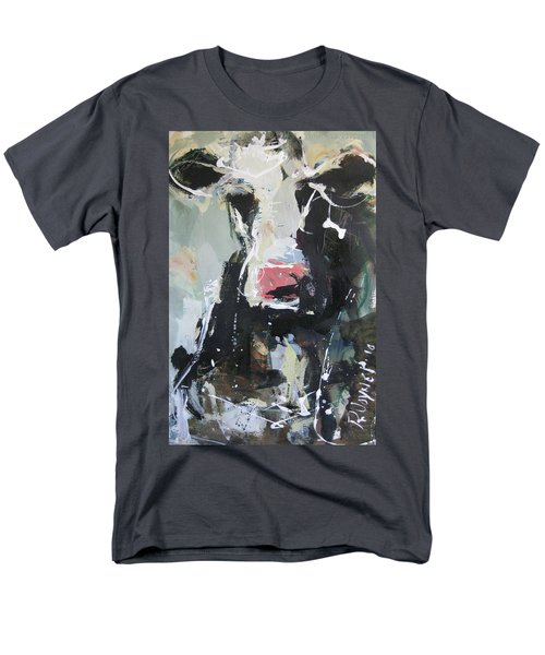 Men's T-Shirt  (Regular Fit) featuring the painting Cow Portrait by Robert Joyner