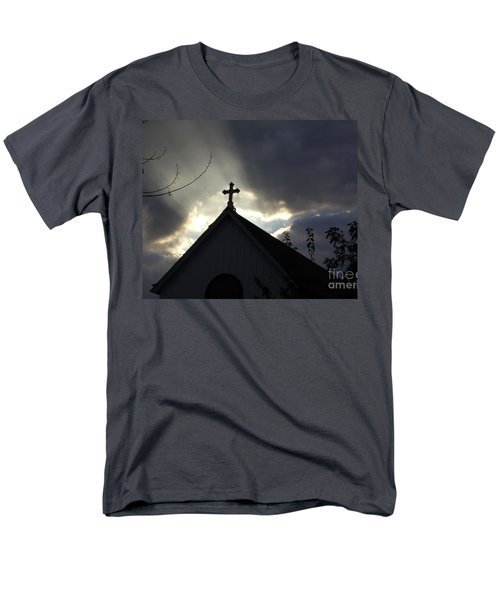 Cross In Sun Rays Men's T-Shirt  (Regular Fit) by Debra Crank