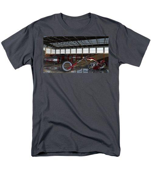 Men's T-Shirt  (Regular Fit) featuring the photograph Custom Chopper  by Louis Ferreira